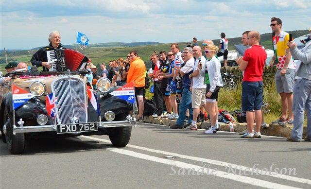 Grand Depart 2014 caravan on Holme Moss