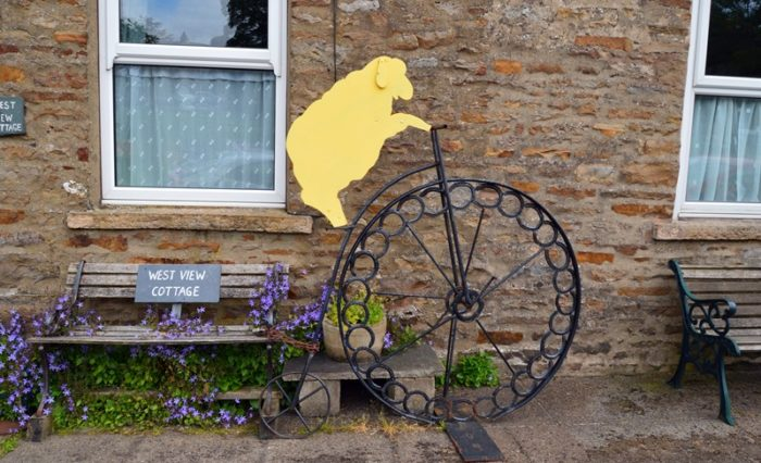 Bainbridge village Grand Depart decoration