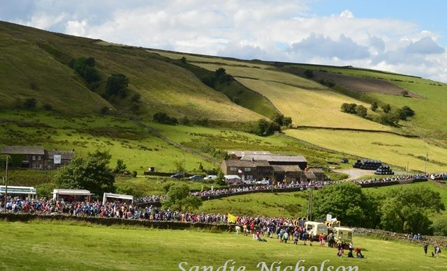 Holme Moss as crowds leaver after Grand Depart 2014 TDF cycling race