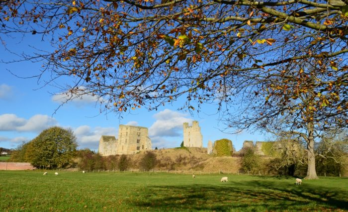 Helmsley Castle, North Yorkshire from Duncombe Park